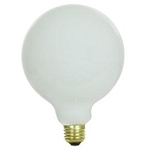 Sunlite 07165   25 Watt G40 Globe, Medium Base, White 25G40/WH