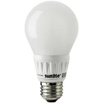 Sunlite 80185 8.5 Watts  330° Omni Directional Warm White A-Type Bulb Med Base A19/8.5W/D/E/27K/OD