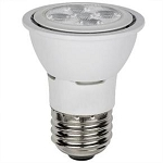 6 Watts PAR16  Warm White 3000K 38° Flood Med E26 Base PAR16/LED/6W/DIM/ES/30K