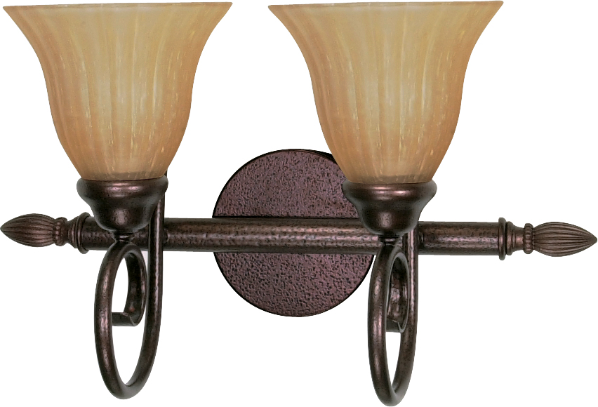 Nuvo Lighting 60 016 Moulan 2 Light 18 Vanity With Champagne Linen Washed Glass