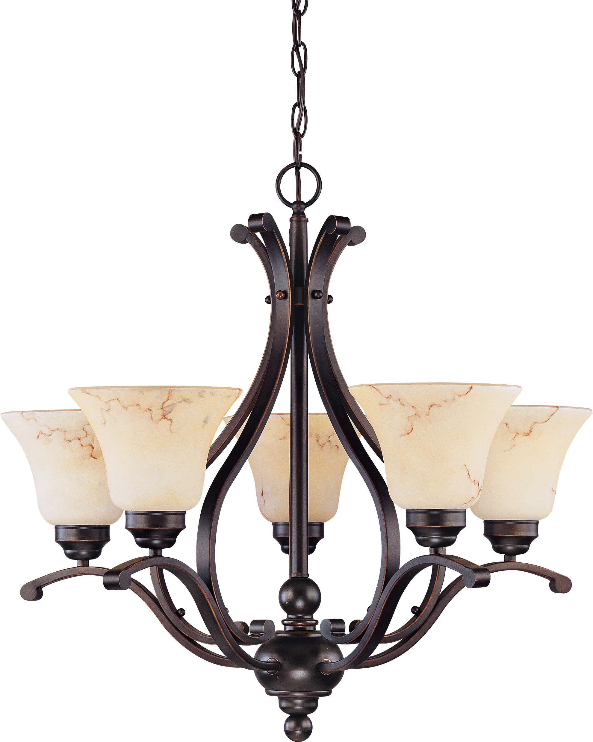 Nuvo lighting 60 1402 anastasia 5 light 24 chandelier with honey marble glass - Popular chandelier styles ...