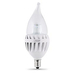 Feit 8060 7 Watt  60 Watts Equivalent Flame Tip Clear LED candelabra Bulb CFC/DM/500/LED