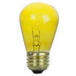 Sunlite 01178 11 Watts Transparent Yellow S14  Sign Lamp 130 Volt Medium Base 11S14/TY  Case of 24