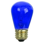 Sunlite 01187 11 Watts Transparent Blue S14  Sign Lamp 130 Volt Medium Base 11S14/TB  Case of 24