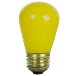 Sunlite 01195 11 Watts Yellow S14  Sign Lamp Medium Base 11S14/Y  Case of 24