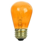 Sunlite 01202 11 Watts Transparent Orange S14  Sign Lamp 130 Volt Medium Base 11S14/TO  Case of 24