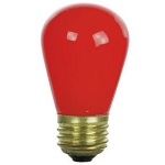Sunlite 01205 11 Watts Red S14  Sign Lamp Medium Base 11S14/R  Case of 24