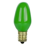 Sunlite 01260 7 Watts Green C7  Mini  Bulb Candelabra Base 7C7/G Case of 25