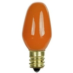 Sunlite 01270 7 Watts Orange C7  Mini  Bulb Candelabra Base 7C7/O Case of 25