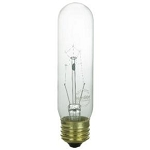 Sunlite 02020 60 Watts Clear T10  Tubular Bulb Medium Base 120 Volts 60T10/CL Case of 25