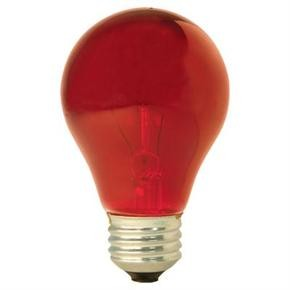 Ge 49727  25 Watts Transparent Red  A19  Bulb 25A/TR